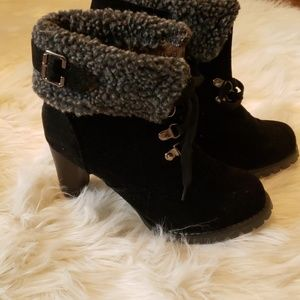 NWOT Suede winter ankle dress boot